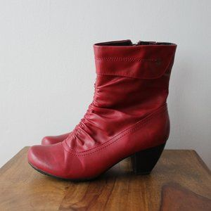 Alberto Red Leather Boots